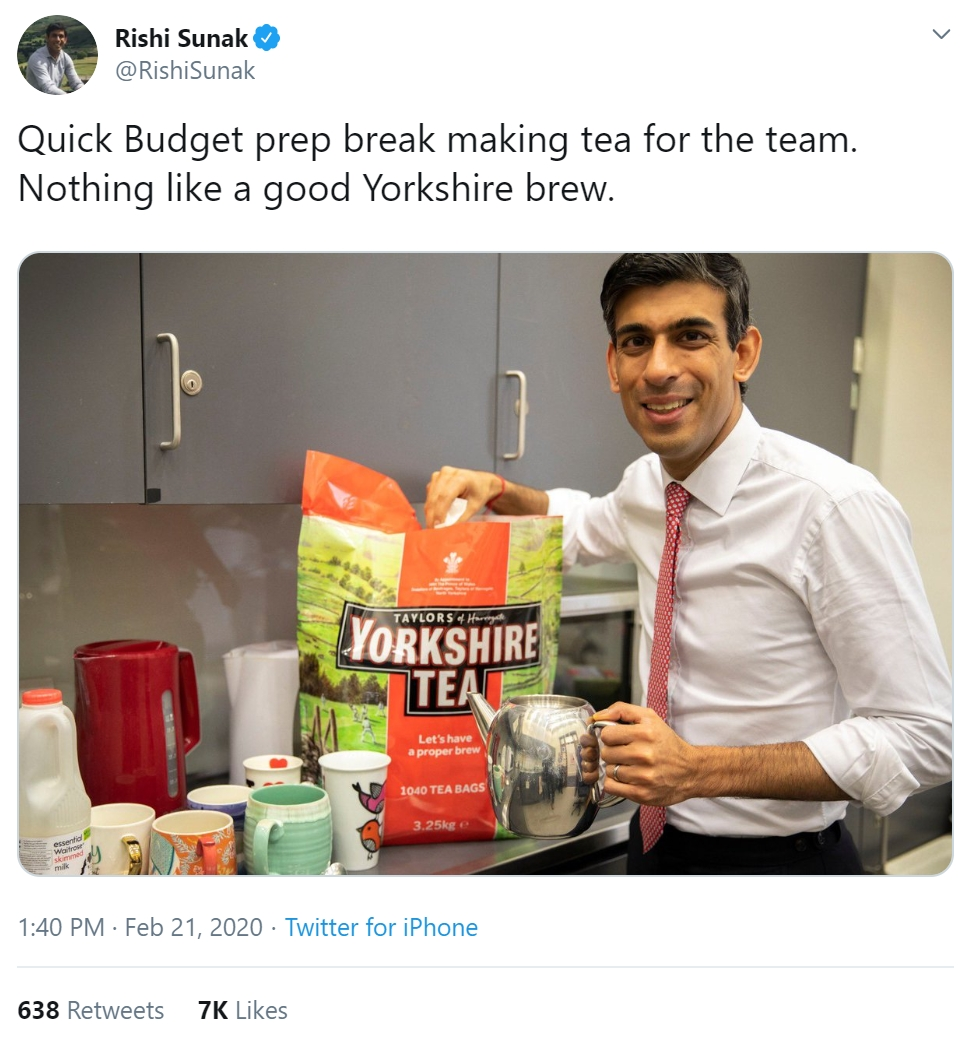 Crisis management in action: Yorkshire Tea's surprising response to backlash over Chancellor tweet